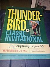 Arnold Palmer Jack Nicklaus 1967 Thunderbird Classic Signed Program JSA