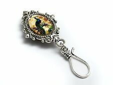 Magnetic Portuguese Knitting Pin- ID Badge Holder- Peacock
