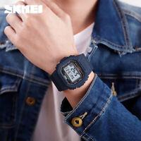 SKMEI Men Sports Watch 5Bar Waterproof Alarm Military Digital Wristwatch 1471 E