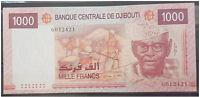 Djibouti 2002 P42a banknote BANQUE CENTRALE 1000 Francs # G012421 - UNC