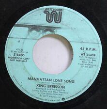 Soul Promo 45 King Errisson - Manhattan Love Son / Manhattan Love Son On Westbou