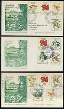 Colombia Scott #716//C370 FIRST DAY COVERS (3) Orchids Flowers FLORA $$