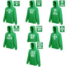 St Patricks Day Mens Green Hoodie Hood Ireland Irish Beer Paddy Funny 2-2XL SALE