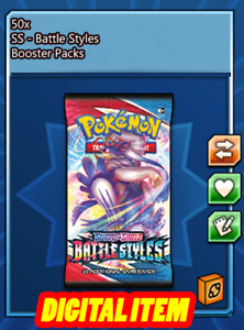 50x Battle Styles Codes Booster Packs Pokemon TCG Online (PTCGO, Ingame)