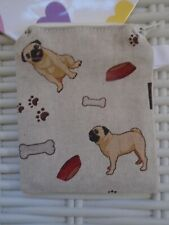 CUTE PUG PURSE PUGS PURSES WALLET GIFT PET LINED WITH ZIP SINGLE SIDED NEW FUN!