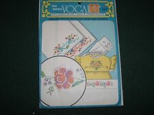 Vtg 50s Original Vogart Hand Embroidery Pillow His Hers Basket Transfers UC#k40
