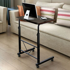 Black Coffee Table Sofa Bed Side Computer Laptop Table Side End Table Adjustable