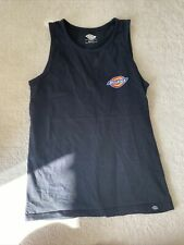 Dickies Black Tank Top With Brand Logo Size Small