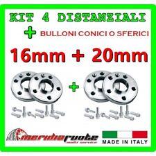 KIT 4 DISTANZIALI PER FIAT PANDA /4X4 169 2003 - 2012 Made in ITALY 16mm + 20mm