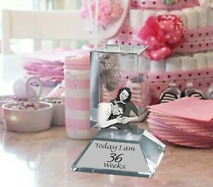 Personalised Glass Paperweight 2D Laser Engraved Crystal Base Any Occasion Gift