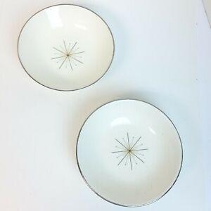 Set of 2 VTG Atomic Homer Laughlin Modern Star Small Dish Salad Dessert Bowl USA