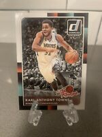 KARL-ANTHONY TOWNS #21 2015-16 Panini Donruss THE ROOKIES RC TIMBERWOLVES