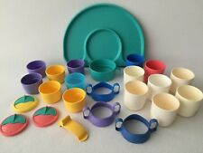 Tupperware Vintage Tupperkids Lot Tray Snack Cups Sippy Cups Bowl