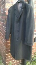 MENS CROMBIE STYLE MADE IN ENGLAND OVERCOAT SIZE L MOD SCOOTER BOY WOOL CHARCOAL