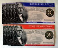 2016 $2 Single Note Collection-Limited to 5,000 Sets Only!
