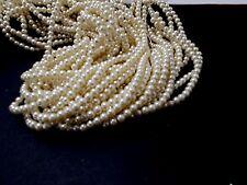 420pcs 6mm GLASS PEARL Faux Imitation Beads - CREAM / DARK IVORY ( 3 strands )