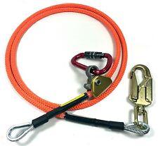 "Climb Right 1/2"" X 10' Steel Core Lanyard Kit Flipline 75222 Swivel Snap"