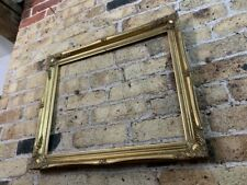 Rococo Baroque Gold Gilt & Gesso Detail Wooden Picture Frame, Medium to Large