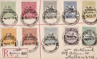 PNG652) New Guinea NWPI overprints range of 10 different on 1918