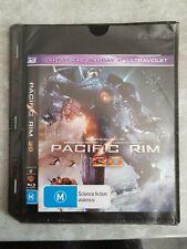 Pacific Rim 3D & 2D Blu-ray Bluray 3-Disc Set Charlie Hunnam Idris Ilba