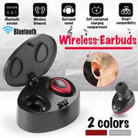 TWS Bluetooth4.1 Wireless Earplug Twins Stereo In-Ear Headset Earphone Mini