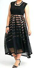 Floaty Polka Dot TS Taking Shape Dress 16 Aria A-line Plus Size BLK