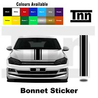 Bonnet Sticker Stripe Decal Vinyl For Volkswagen VW Golf Polo Lupo R GTI TSI