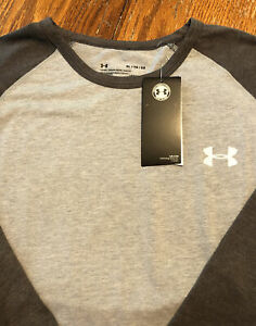 NWT New Men's XL Under Armour Gray Baseball Style Loose Fit Shirt