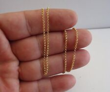 18K YELLOW GOLD OVER 925 STERLING SILVER ROLO CHAIN / 18'' LONG / ITALIAN MADE
