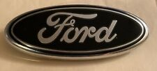 Ford Self Adhesive Front Grill/Tailgate Emblem New-Silver and Black Plastic