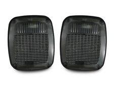 DEPO Smoke Rear Tail Light Pair For 1987-1995 Jeep Wrangler YJ & 1997-2006 TJ