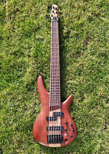 Ibanez SR756-NTF 6-string electric bass guitar with Nordstrand P/J pickups