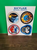 4 Vintage NASA Space SKYLAB Official Insignia Decal Sticker Sheet