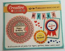 Creative Dies 10 in 1 Brilliant Basics Die Set