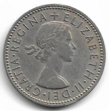 Britain Queen Elizabeth II One Shilling Coin - 1958