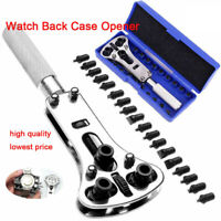 Watch Back Case Battery Cover Opener Repair Wrench Screw Remover Tool Set Kit H
