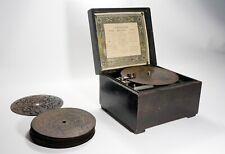 Scatola Musicale SYMPHONION con 10 Dischi - Raro Carillon di Fine '800