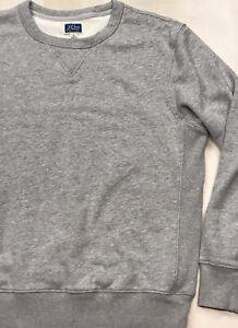 J.Crew Gray Vintage Fleece Pullover Sweatshirt Blank Solid Crewneck Men's Medium