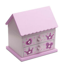 Girls Pink Ballet Dance Wooden House Music Jewellery Box By Katz Dancewear JB17