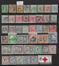 Collection of mixed used Grenada stamps.