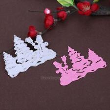 Snowman Trees DIY Metal Cutting Dies Stencil Scrapbooking Embossing Paper Craft