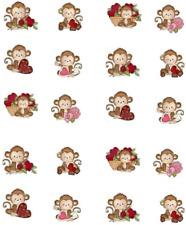 Monkey Love ( Valentine)  Waterslide Nail Decals/Nail art