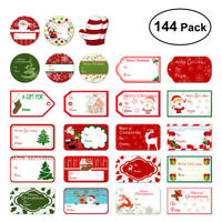 144 Pack Christmas Present Gift Stickers Name Tag Self Adhesive Label 24 Design