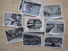 Deggendorf a.d. Donau. 10 Photographien 6x9cm, Gebr. Metz, um 1950, 10 s-w-Abzüg