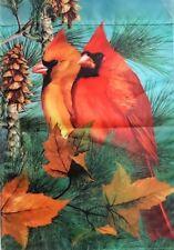 "Autumn Splendor Cardinal Outdoor Garden Flag by Evergreen 14"" x 18"", #1009"