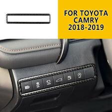 Carbon Fiber Interior Trunk switch frame Cover Trim For 2018-2020 Toyota Camry