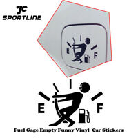 High Gas Consumption Decal Fuel Gage Empty Stickers Funny Car Styling Sticker