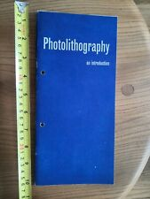 Photolithography an Introduction booklet paperback 1970s Kent School of Printing
