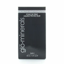 GloMinerals GloProtective Liquid Foundation Satin II Beige Medium 1.4 Oz 40ml
