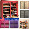 Home Shoe Rack Shelf Storage Closet Organizer Cabinet 6 Layer 12 Grid W/ Cover